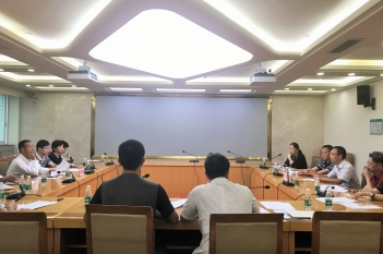 2017年9月26日,省卫计委沈骥主任督导中心项目推进情况。